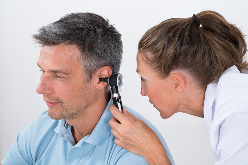 Hearing test ear examination